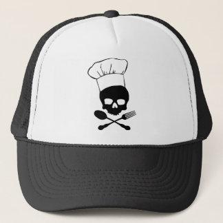 Skull & Crossbones Chef Trucker Hat
