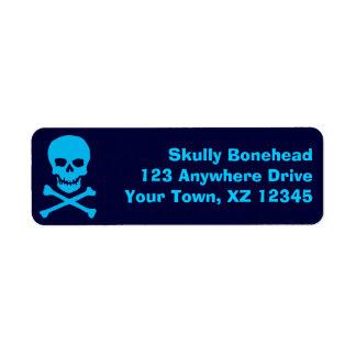 Skull & Crossbones Custom Return Address Labels