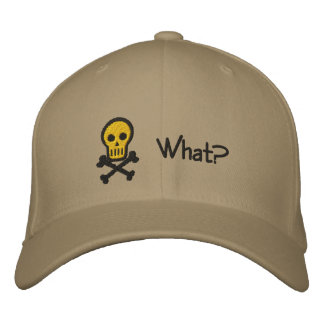 Skull & Crossbones Customizable Embroidery Hat Embroidered Baseball Caps