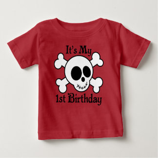 Skull Crossbones Cute 1st Birthday Childs T-shirt