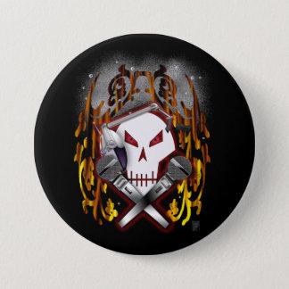 skull & crossbones DJ Pinback Button