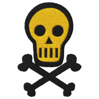 Skull & Crossbones Goth Pirate Fantasy Design Embroidered Shirt
