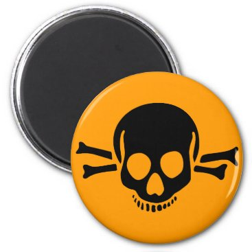 holidaysboutique skull crossbones halloween magnet