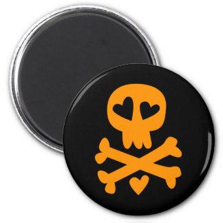 Skull crossbones Halloween Magnet