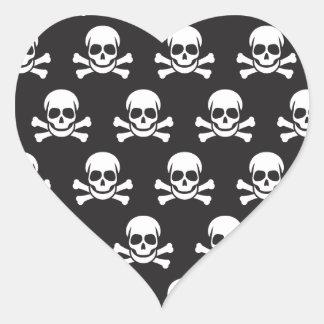 Skull & Crossbones Heart Sticker