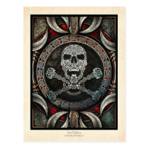 Skull & Crossbones Illumination Postcard