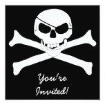 Skull & Crossbones - Jolly Roger 5.25x5.25 Square Paper Invitation Card