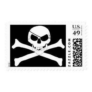 Skull & Crossbones - Jolly Roger Postage Stamps