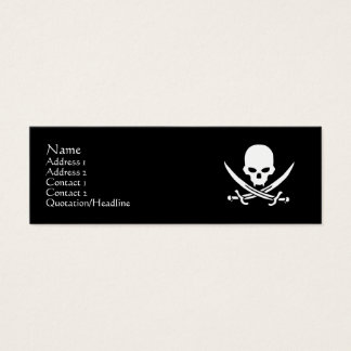 Skull & Crossbones Mini Business Card