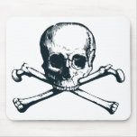 skull crossbones mouse pad