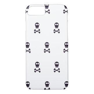 Skull crossbones pattern Halloween iPhone 7 Case
