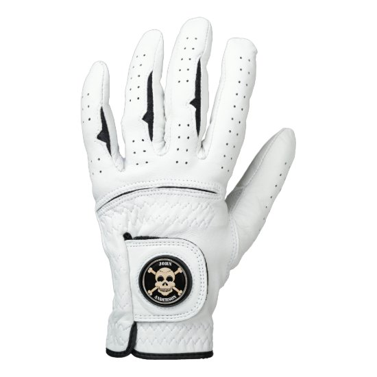 Skull & Crossbones Personalized Golf Glove