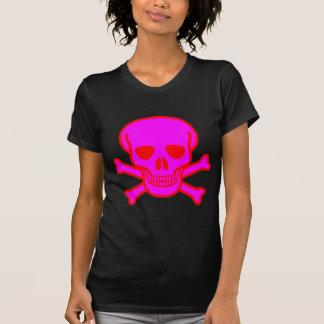 SKULL CROSSBONES PINK RED T-Shirt