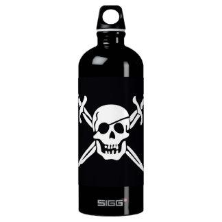 Skull & Crossbones Pirate Flag Aluminum Water Bottle