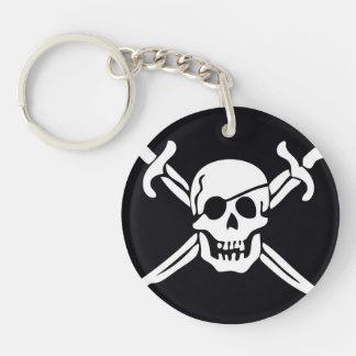 Skull & Crossbones Pirate Flag Keychain