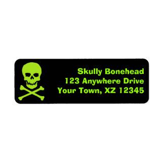 Skull & Crossbones Return Address Labels