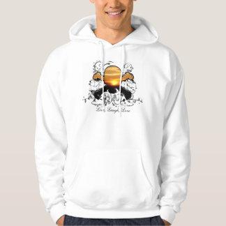 Skull & Crossbones -Shirt Hooded Sweatshirt