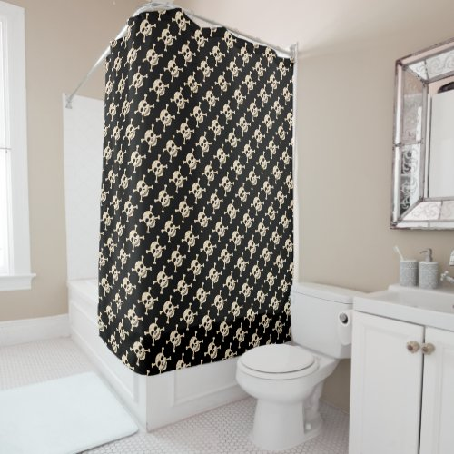 Skull & Crossbones Shower Curtain