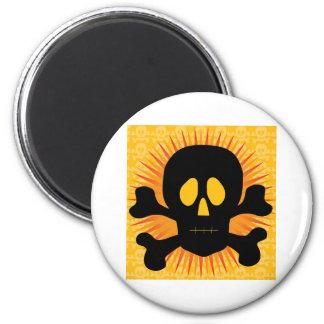 Skull Crossbones Silhouette Fridge Magnets
