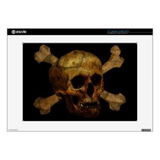 """Skull Crossbones Skin For 15"""" Laptop"""