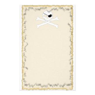 Skull Crossbones Stationery Paper