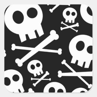 Skull & Crossbones Square Sticker