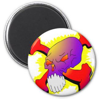 Skull & CrossBones Tattoo 2 Inch Round Magnet