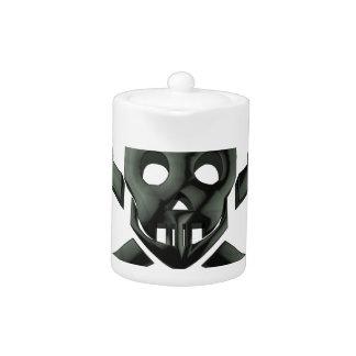 skull crossbones teapot