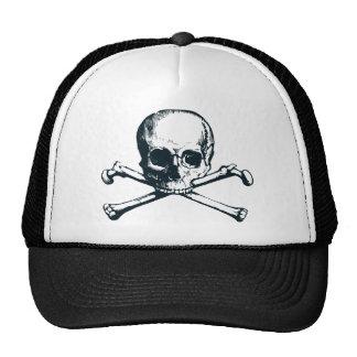 skull crossbones trucker hat
