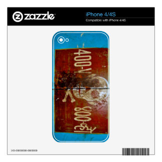 Skull Crossbones Warning Sign Decal For The iPhone 4