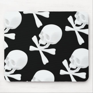 Skull & Crossed Bones Design Mouse Pad