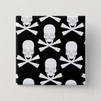 Skull & Crossed Bones Design Pinback Button