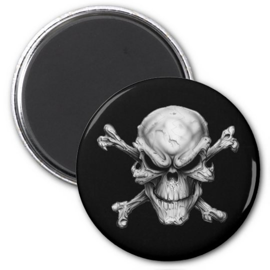 Skull Crossed Bones Magnet