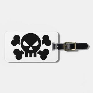 Skull crossed bones tags for bags