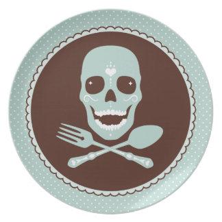 Skull & Crossed Flatware Dinner Plate