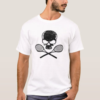 Skull & Crossed Racquets Tennis T-shirt