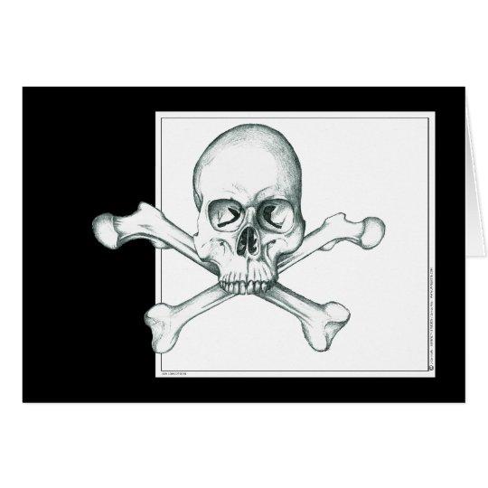 Skull & Crossed Thigh Bones Card