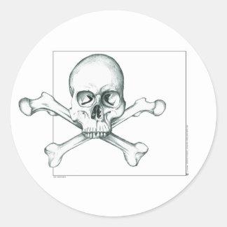 Skull & Crossed Thigh Bones Classic Round Sticker