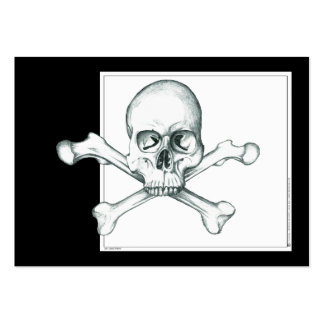 Skull & Crossed Thigh Bones Large Business Cards (Pack Of 100)