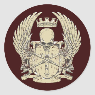 Skull & Crown Classic Round Sticker