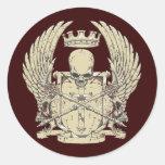 Skull & Crown Round Sticker