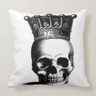 Skull Crown Royal Throw Pillow