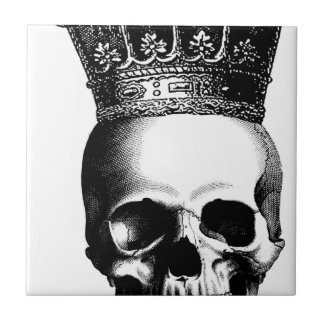 Skull Crown Royal Small Square Tile