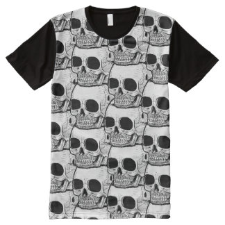 Skull Crypt All-Over Print T-shirt