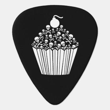 Skull Cupcake Guitar Pick by WaywardMuse at Zazzle