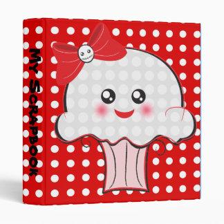 "Skull Cupcake Kawaii 1"" notebook Binder"