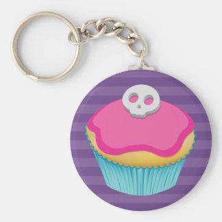Skull Cupcake (pink) - Keychain