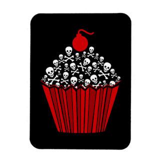 Skull Cupcake Rectangular Photo Magnet