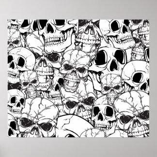 Skull Custom Large Pattern Poster