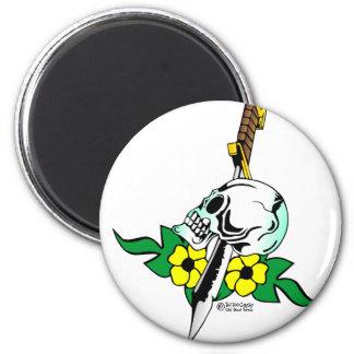 Skull & Dagger Old Skool Tattoo Magnet